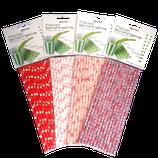 Papierstrohhalme Herzen-Rosen Mix - 100 Stk