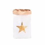 """Paperbag, Papiersack """"Stern - Gold"""" mit Heißfoliendruck"""