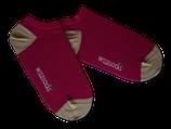Sneaker-Socken von WILDSOCKS - Energy Purple Bio-Baumwolle