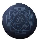 Meditationskissen Yantra blau
