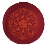 Meditationskissen Branches buddhistisch rot