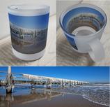 Milchglas-Tasse - Motiv Winter in Travemünde - demnächst wieder bestellbar