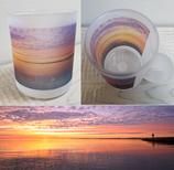 Milchglas-Tasse - Motiv Ostsee - Travemünde