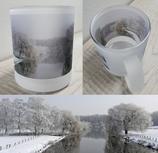 Milchglas-Tasse - Motiv Winter  an der Trave - demnächst wieder bestellbar
