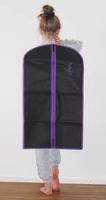 Kleiderhülle schwarz-lila SR