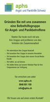 Flyer: Eine aphs-Selbshilfegruppe gründen