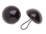 Glorex Glas-Augen mit Oese schwarz
