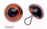 Glorex Glas-Augen mit Oese braun