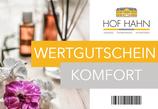 """Wertgutschein """"Komfort"""""""