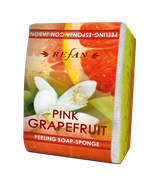 Peelingschwamm mit Seife Pink Grapefruit 80g
