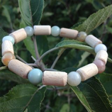 Bracelet Amazonite et Hêtre - Bracelet MIXTE