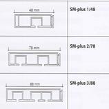 Vorhangschiene SM-Plus mit Holzkern Aufmaß bis 180cm