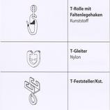 T-Schiene Zubehör Ringe Feststeller