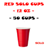 Beer Pong Cups 12oz 50 Stk. Red