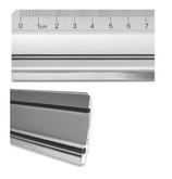 Alu-Lineal mit Stahlkante
