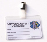 Weltall Astronauten Ausweis