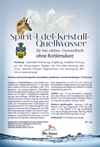 Spirit-Kristall-Quellwasser mit Bio-Mikro-Organismen für Sauerstoff Anreicherung