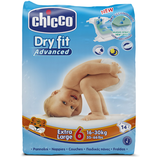 CHICCO DRY FIT ADVANCED 6 EXTRA LARGE 16-30  KG 14 PEZZI PANNOLINI