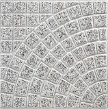 ART.G6086, V041 Valenti Ventaglio Grigio Levigato 40x40x4 cm