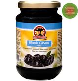 Schwarze Oliven entsteint 365g