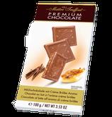 Premium Milchschokolade mit Creme Brûlée Aroma 100g