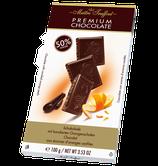 Premium Schokolade 50% mit kandierten Orangenschalen 100g