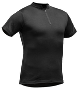 Tencel-Poly Zip-Neck Shirt