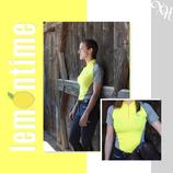 XH|WEAR Summer Shirt - Trainings Edition in Lemon / Light Grey