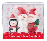 キャンドル クリスマストリオキャンドル サンタクロース スノーマン ろうそく サンタキャンドル ロウソク 蝋燭 雪だるま クリスマス雑貨