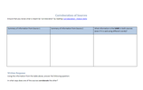 Corroboration and Contradiction Worksheet