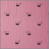 Musselin Bär Piet antik pink