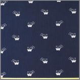 Musselin Bär Piet dunkelblau