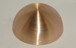 Kupferhalbhohlkugel D = 130 mm | Bestell-Nr.: 624130K