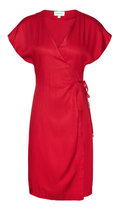 "ARMEDANGELS ""Disa""- Wrap Dress made of Viscose - EcoVero red XS"