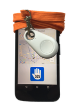 pe-SOS  LITE alarming and displaying current GPS tracking position