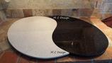Servier- & Dekoplatte Yin - Yang Duo Black and White