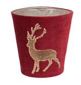 Kerzenhülle Funky deer 150 rot