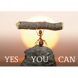 Postkaart Yes you can!