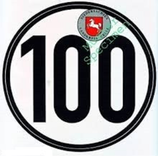 ZUL. MAXIMALGESCHWINDIGKEIT 100 KM/H
