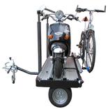 Fahrradradhalteset hinter Motorrad für 2 Räder
