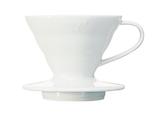 V60 Kaffee Dripper 02 Keramik / Weiß