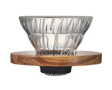 V60 Glass Dripper Olivenholz 01
