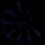 Maxi: 18 Zoll: Borbet CW5 schwarz matt poliert 4xAlufelgen/Kompletträder, 5x130