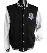 Moskitos College-Jacke weiss mit neuem Stick-Logo