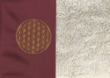 Energiekissen Bordeaux + Baumwollplüsch