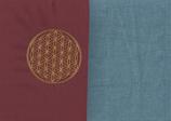 Energiekissen Bordeaux + Schwedenblau