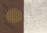 Energiekissen Braun + Baumwollplüsch