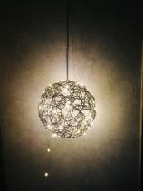 Drahtkugel 25cm mit 100 LED Lichterkette