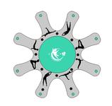 Yoga SUP Trainer Insel für 8 SUP's inkl. Pumpe + Repairkit
