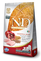 N&D ancestral grain pollo e melograno puppy medium 12kg